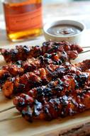Bacon Bourbon Bbq Chicken Kabobs!