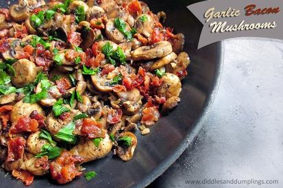 Garlic Bacon Mushrooms!