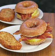 Donut Breakfast Sandwich!