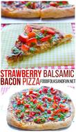 Strawberry Bacon Pizza!