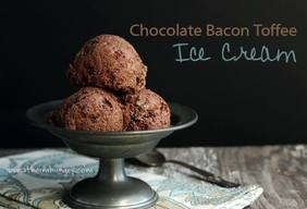 Chocolate Bacon Toffee Ice Cream!
