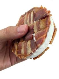 Bacon Weave Ice Cream Sandwich!