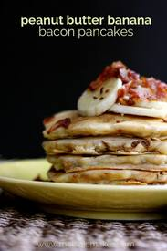 Bacon Banana Pb Pancakes!