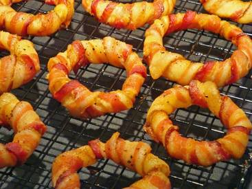Bacon Wrapped Onion Rings!