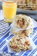Cheesy Green Chile & Bacon Biscuits!