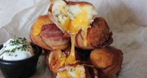 Bacon Mashed Potato Cheese Bombs!