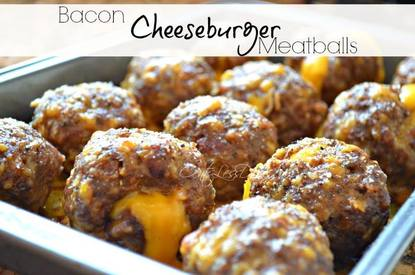 Bacon Cheeseburger Meatballs!