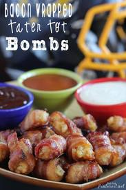Bacon Wrapped Tater Tot Bombs!