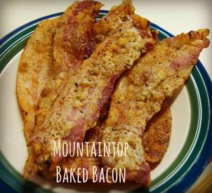 Mountaintop Baked Bacon!