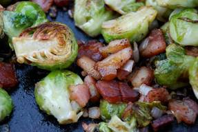 Brussels Sprouts With Bacon & Hazelnuts!