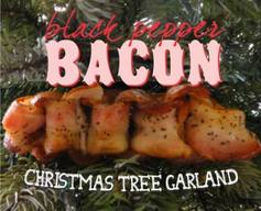 Black Pepper Bacon Christmas Tree Garland!