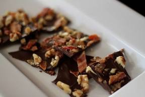 Chocolate Walnut Bacon Bark!