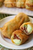 Avocado Bacon Egg Rolls!
