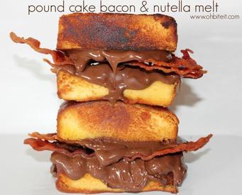 Poundcake Bacon & Nutella Melt!