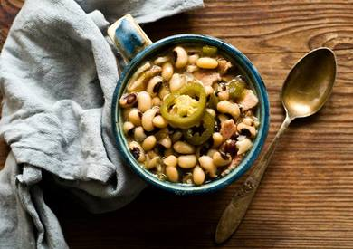 Black Eyed Peas With Jalapeno Bacon!