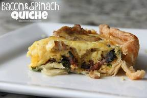 Bacon & Spinach Quiche!