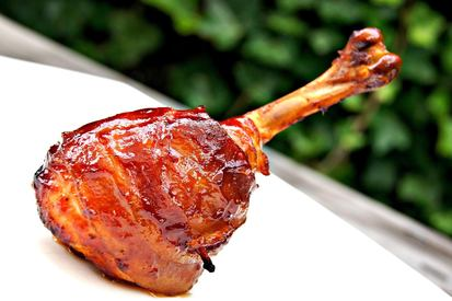 Smoked Bacon Chicken Drumsticks!