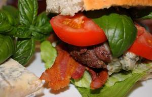 Bacon, Basil & Gorgonzola Cheese Burgers!