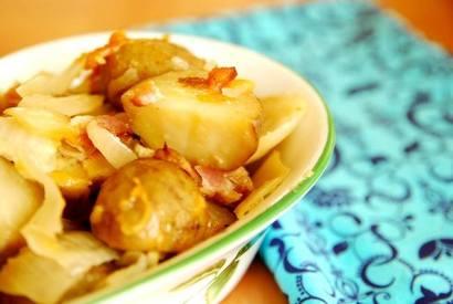 Crockpot Bacon Cheddar Potatoes!