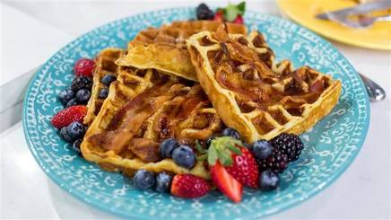 Homemade Bacon Waffles!