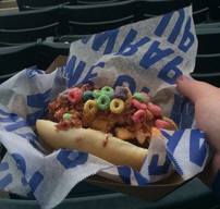 Fruit Loop Bacon Slider Dog??!