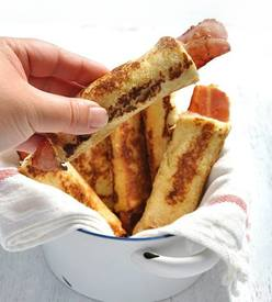 Bacon Stuffed French Toast Rolls!