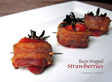 Bacon Wrapped Strawberries!