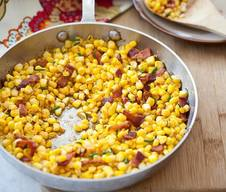 Buttery Corn With Bacon & Chives!