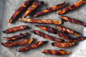 Bacon Wrapped Sweet Potato Fries!