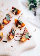 Grilled Nectarines & Peaches Wrapped In Bacon!