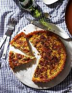 Tater Skin Bacon Quiche!