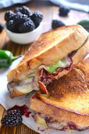 Blackberry Bacon Grilled Cheese!