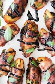 Bacon Wrapped Grilled Peaches!