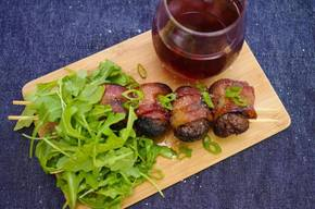 Bacon Wrapped Grilled Meatballs!