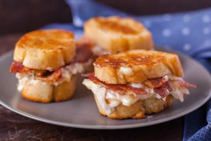 Bacon & Chicken Pan Fried Sandwich!