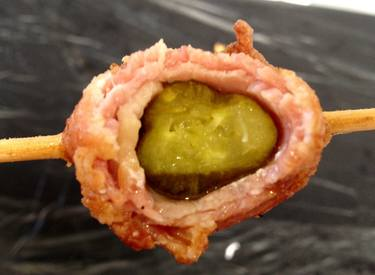 Bacon Wrapped Pickle!