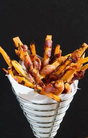 Sweet Potato Fries W/ Bacon!