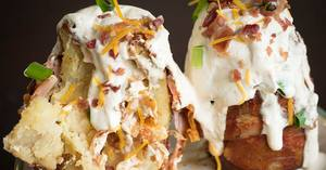 Bacon Potato Volcanos!