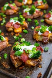 Loaded Smashed Potatoes!