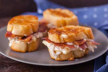 Chicken & Bacon Pan Fried Sandwich!