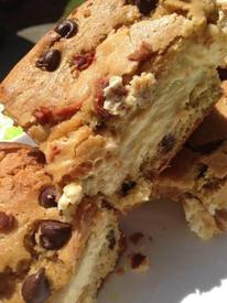 Bacon Chocolate Chip Cheesecake Brownies!