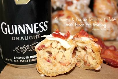 Guinness & Bacon Doughnut Holes!