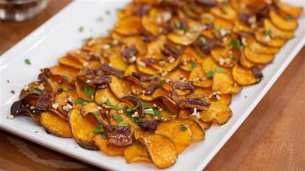 Maple Bacon Pecan Sweet Potato Chips!