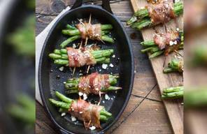 Grilled Bacon Wrapped French Beans!