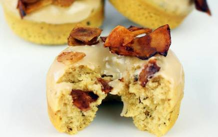 Coconut Maple Bacon Doughnut!