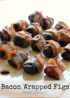 Bacon Wrapped Figs!