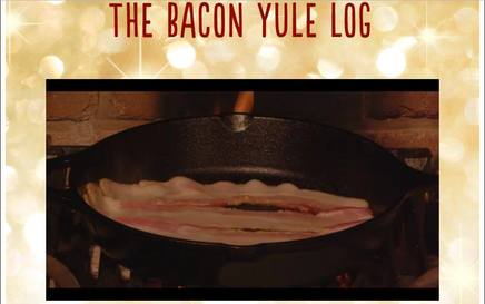 Bacon Yule Log!
