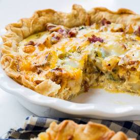Bacon Potato Quiche!