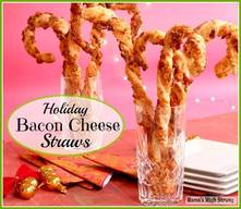 Bacon & Cheese Holiday Straws!