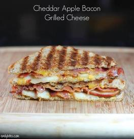 Cheddar Bacon Apple Grilled Cheese!